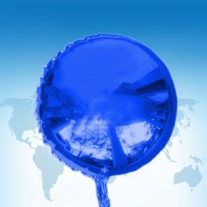 ฟอยล์กลม สีน้ำเงิน