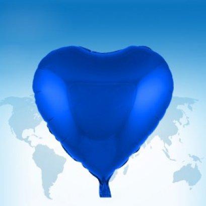 """ฟอยล์หัวใจ 18"""" สีน้ำเงิน"""