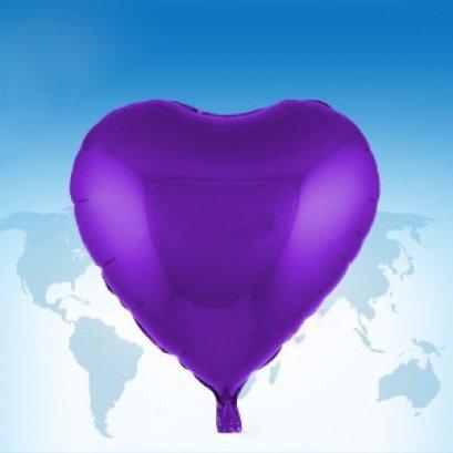 """ฟอยล์หัวใจ 18"""" สีม่วง"""