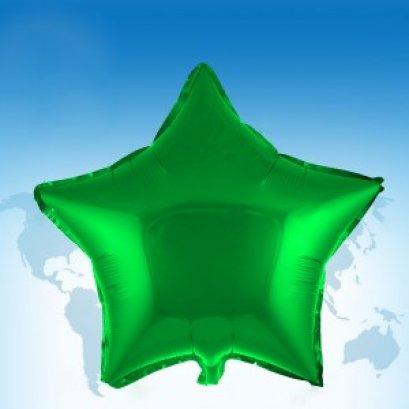 """ฟอยล์ดาว 18"""" สีเขียว"""