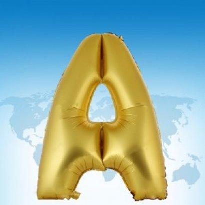 ฟอยล์ตัวอักษร 40 นิ้ว สีทอง A