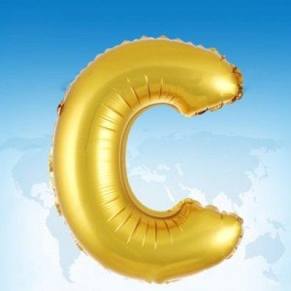 ฟอยล์ตัวอักษร 40 นิ้ว สีทอง C