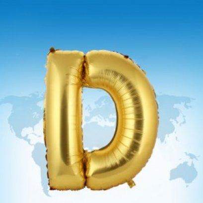 ฟอยล์ตัวอักษร 40 นิ้ว สีทอง D