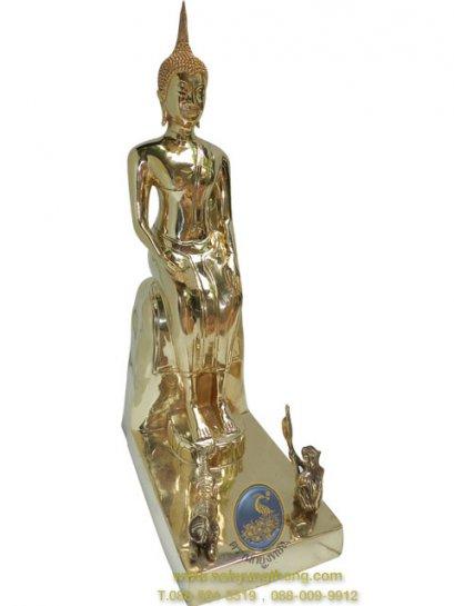 พระพุทธรูป ทองเหลืองขัดเงา 3-9 นิ้ว วันพุธกลางคืน(ปางป่าเลไลย์)