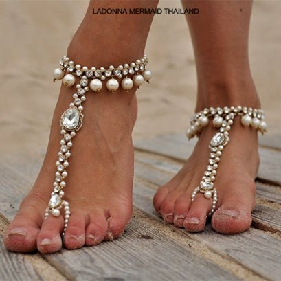 Pearl and Rhinestone Foot Accessories ACF001