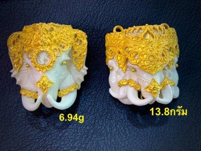 หน้าช้างเลี่ยมทองสุโขทัย ทองลงสีงานสวยปราณีต ทอง%ดี สีไม่ซีดหมอง