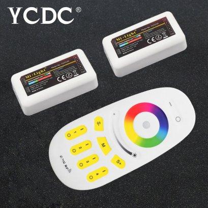 รีโมท remote control MiLight RF 2zone RGB RGBW LED Strip Controller ใช้กับไฟ RGB แบบ DC 4Core