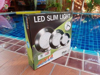 35w 12V DC BLUE LED Slim light Stainless 316 Jestaโคมไฟใต้น้ำสแตนเลส แสงสีฟ้า 2core อายุการใช้งานยายนาน50000 ชม