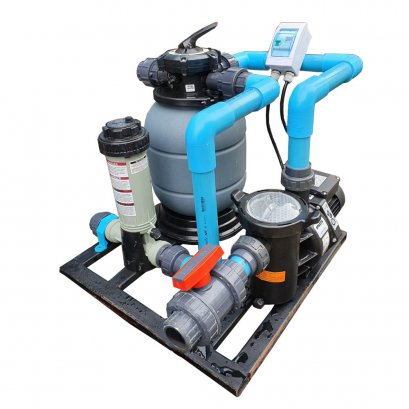 Mini Complete set swimming equipment, chlorine system, finished assembly 10-20Q + automatic pump control cabinet + Chlorine Multi action