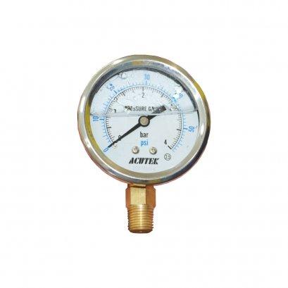 เพชเชอร์เกจน้ำมัน 0-4 บาร์(Oil Pressure Gauge) WinWin Pool***ราคารวมค่าจัดส่ง