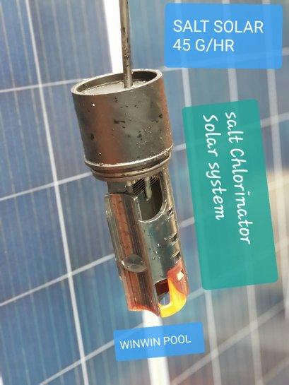 Solar Salt Chlorinator เครื่องผลิตคลอรีนจากเกลือ พลังงานแสงอาทิตย์ 45 Gram/hour สำหรับสระ 100-150Q