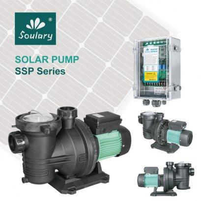 ปั้มสระว่ายน้ำโซล่าร์1hp DC Solar Water Pump for Swimming poolPump + Controller + water level sensors + cables connectors (ไม่รวม Solar Panelไม่รวม Solar sharge ไม่รวม Battery)