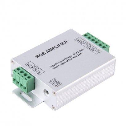 ***สินค้าหมดชั่วคราว*** Amplifier ตัวขยายสัญญาณไฟใต้น้ำเปลี่ยนสี RGB4 core ไฟเส้น DC 12V-24V 24A Signal RGB Amplifier Repeater for RGB 4 Core for 3528 5050 LED Strip Light