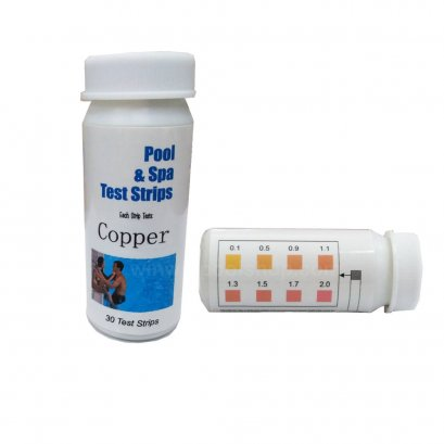 ชุดวัดระบบน้ำแร่Copper Test Kits With 30pcs/Bottle for Swimming Pool and Spa Strip test 30test