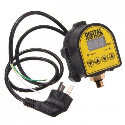 Digital Pressure Switch 0-10Bar ON/OFF Pump เพรชเชอร์สวิทช์ 220V สำหรับแจ้งเตือนถังกรองอุดตัน สำหรับปั้มน้ำบ้านอัตโนมัติ Control Automatic Back wash sand filter