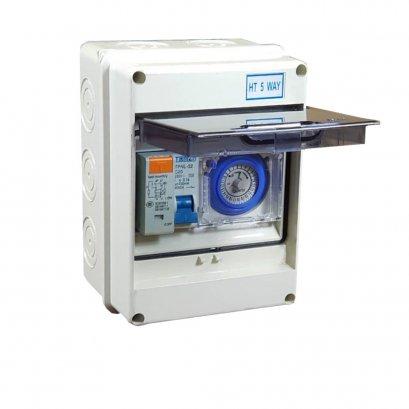 Mini Control Pump พร้อมเบรกเกอร์กันดูด Timer 24hr เหมาะสำหรับปั๊มไม่เกิน 3Hp กล่องกันน้ำกระทัดรัด สวยงาม