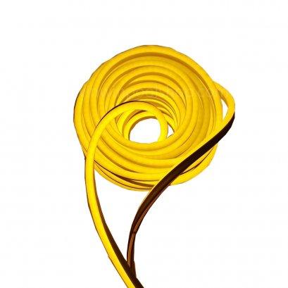 ***สินค้าหมดชั่วคราว*** ไฟเส้นแบบแบนยาว20m IP68 Waterproof Flex LED Neon Light 2835 120leds/M Neon Strip Lights 12V/Warm White/Connector+Clips