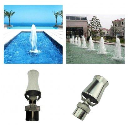 หัวน้ำพุ แบบสเปรย์ Stainless Steel Frothy Foutain Nozzle Garden Pond Fountain Spray Head
