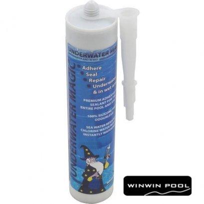 Underwater magic กาวซ่อมสระว่ายน้ำ คอนกรีต กระเบื้อง เซรามิค ไฟเบอร์กลาส PVC pool liners ซ่อมง่าย หลอดเดียวไม่ต้องผสม ไม่ต้องลดน้ำในสระ
