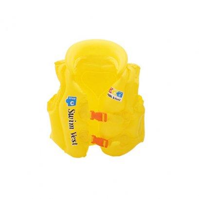 เสื้อชูชีพเด็ก Life Jacket สีเหลืองสวยสดใส คุณภาพดี Size L สำหรับเด็กที่สูง 140 Cm ขึ้นไป
