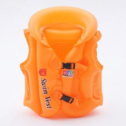 เสื้อชูชีพเด็ก Life Jacket สีส้มสวยสดใส คุณภาพดี Size L สำหรับเด็กที่สูง 140 Cm ขึ้นไป