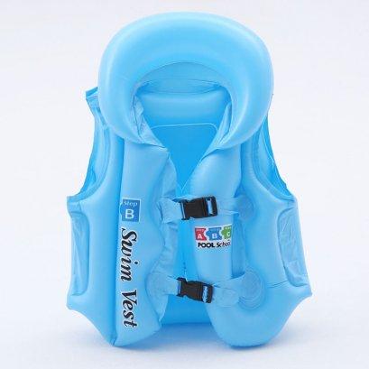 เสื้อชูชีพเด็ก Life Jacket สีฟ้าสวยสดใส คุณภาพดี Size L สำหรับเด็กที่สูง 140 Cm ขึ้นไป