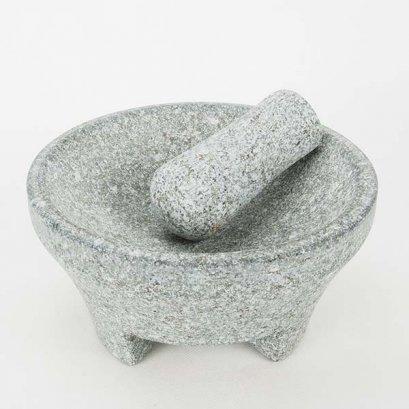 Stone mortar and pestle  dia. 19x10 cm.