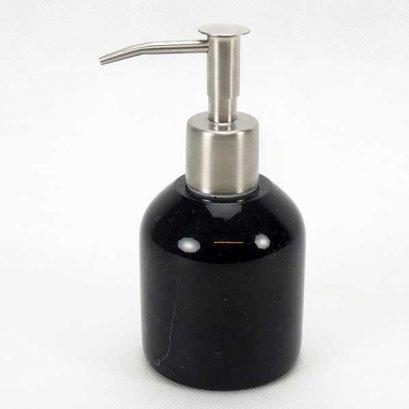 Dispenser, soap, Agra marble  100 ml. 6.5x7.5 cm. Black