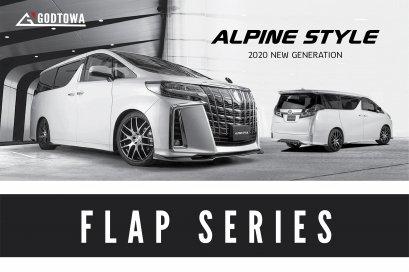 ชุดแต่ง ALPINE STYLE FLAP SERIES 2021 ชุดแต่ง ALPINE STYLE FLAP SERIES ALPHARD SC 2018-2021 ชุดแต่งอัลไพน์ลิ้นรอบคัน