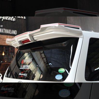 สปอยเลอร์หลัง (REAR WING) BLACK PEARL COMPLETE สำหรับรถยนต์อัลพาร์ด เวลไฟร์ 20 ( ALPHARD/VELLFIRE)