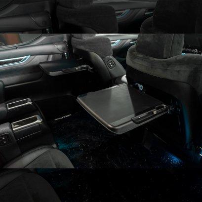 โต๊ะทำงานติดรถยนต์อัลพาร์ด เวลไฟร์ ที่วางอเนกประสงค์ หลังเบาะคู่หน้า สีดำ โต๊ะพับอเนกประสงค์ โต๊ะพับติดหลังเบาะ โต๊ะพับแถวกลาง alphard vellfire seat Alphard Auto Seat Multi-functional Table