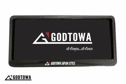 กรอบป้ายทะเบียน GODTOWA ลาย เคฟล่า ใช้ได้กับรถทุกรุ่น (รวม alphard/vellfire)