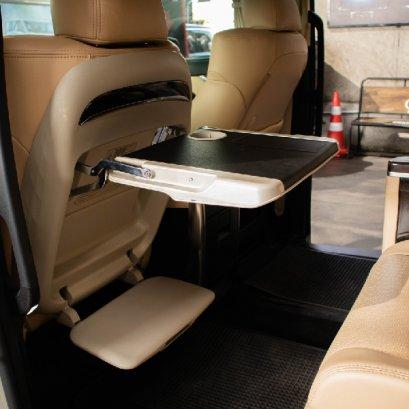 เบาะพักเท้า ชั้นวางของติดรถยนต์ โต๊ะอเนกประสงค์พร้อมเบาะพักเท้า สำหรับรถยนต์อัลพาร์ดx Car Bottle Drink Holder for Alphard X auto seat Multi-functional Tray Table