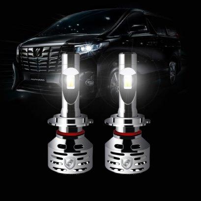 หลอดไฟหน้าติดรถอัลพาร์ด เวลไฟร์ GODZILLA FRONT LAMP LED หลอดไฟหน้า led lamp Alphard Vellfire Front Lamp LED