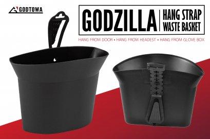 ถังขยะอเนกประสงค์ hang strap waste basket Godzilla hang strap waste basket ถังขยะติดรถ กล่องใส่ของอเนกประสงค์ อัลพาร์ด เวลไฟร์ alphard vellfire