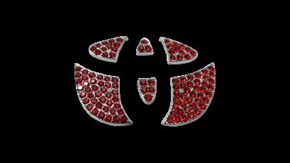 โลโก้ TOYOTA เพชรที่พวงมาลัย โลโก้เพชรแต่งพวงมาลัย Alphard Vellfire ของแต่งพวงมาลัยอัลพาร์ด เวลไฟร์ ของแต่งรถ Alphard Vellfire