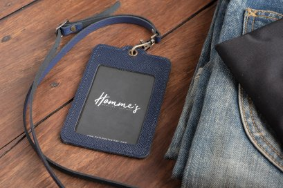 Homme's card strap- Navy Blue