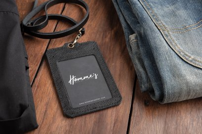 Homme's card strap- Black