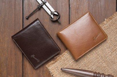 กระเป๋าสตางค๋ผู้ชายหนังวัวนอก Homme's wallet brown Unique collection