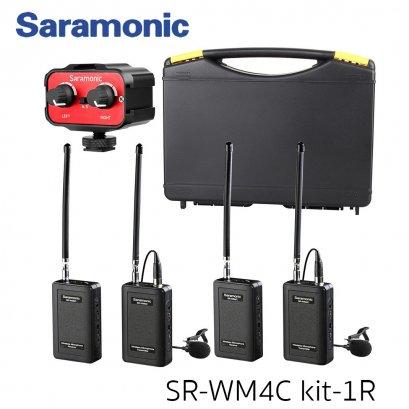 ชุด SR-WM4C Set  ไมโครโฟนไร้สาย จากค่าย Saramonic แบบรับสอง ส่งสอง พร้อมตัว Mixer เสียง