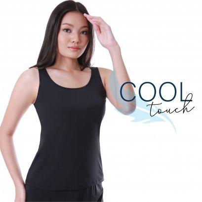 COOL TOUCH เสื้อกล้ามบังทรง เชอรีล่อน อินทิเมท สีดำ รหัส BSND02