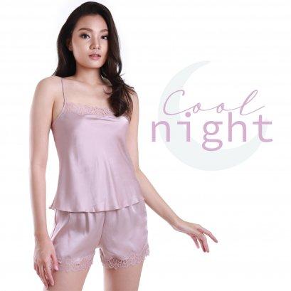 COOL NIGHT  ชุดนอน 2 ชิ้น เสื้อสายเดี่ยว - กางเกงขาสั้น รหัส FHCN01