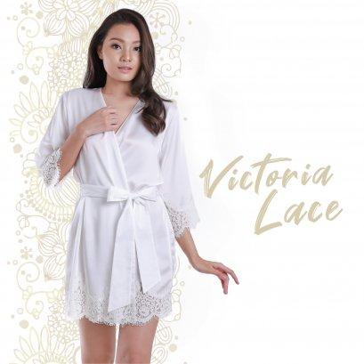 VICTORIA Lace เสื้อคลุมตัวยาว แขนยาว สีออฟไวท์ รหัส FHVTR4