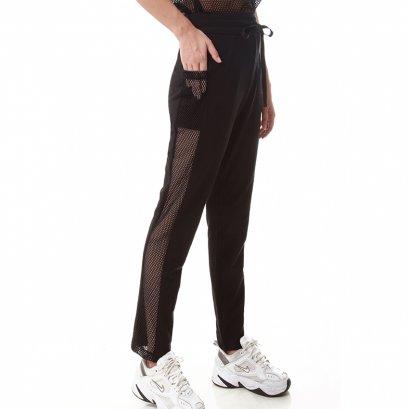Sporty Net กางเกงขายาวตกแต่งตาข่ายด้านข้าง สีดำ รหัส GIB-LNPT17