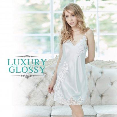 กระโปรงสายเดี่ยวประดับลูกไม้ Luxury Lace (FHLUX4)