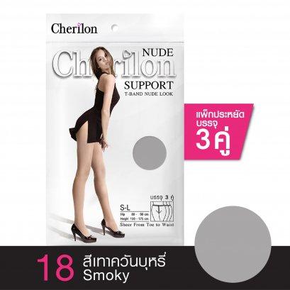 ถุงน่อง NUDE เนื้อซัพพอร์ต (บรรจุ 3 คู่) รหัส NE3PNU สี 18