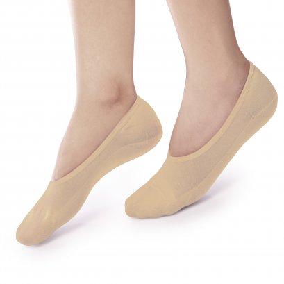 ถุงเท้ารองส้น แบบเปิดหน้าเท้า สีเนื้อ รหัส NEFC01