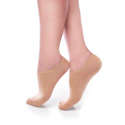 ถุงเท้ารองส้น แบบปิดหน้าเท้า สีเนื้อ รหัส NEFC03