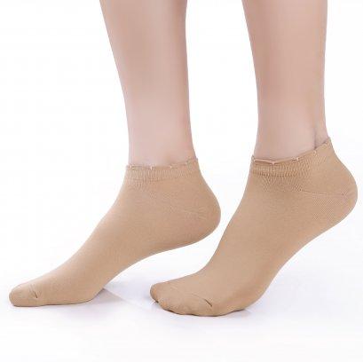 ถุงเท้ารองส้นเนื้อหนา ปิดหน้าเท้า สีเนื้อ รหัส NEFC04
