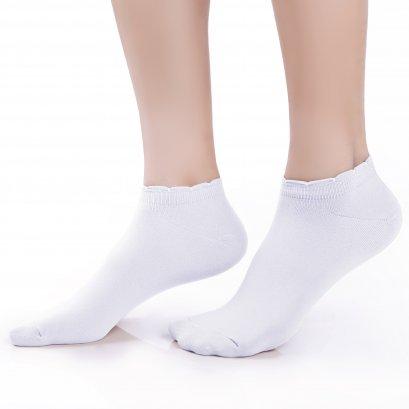 ถุงเท้ารองส้นเนื้อหนา ปิดหน้าเท้า สีขาว รหัส NEFC04